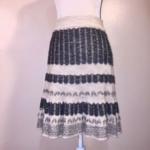 Sparrow Skirt M Anthropologie Linen Wool Fringe